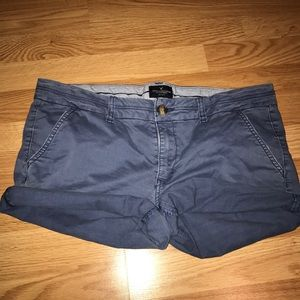 Faded Navy American Eagle Jean Shorts